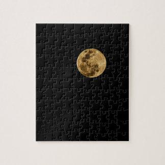 Moon puzzle black background