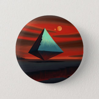 Moon Pyramid 6 Cm Round Badge