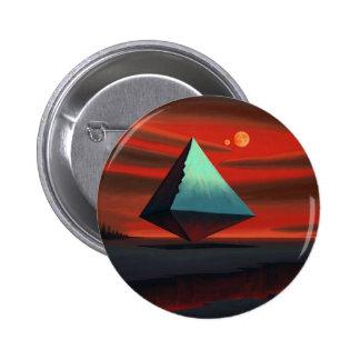 Moon Pyramid 6 Cm Round Badge