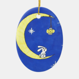 MOON RABBIT AND THE LANTERN CHRISTMAS ORNAMENT