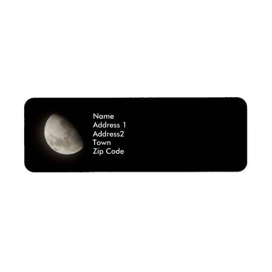 Moon Return Lables Return Address Label