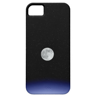 Moon rise over Earth iPhone 5 Cases