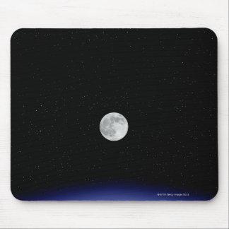 Moon rise over Earth Mouse Mat