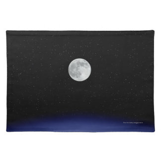 Moon rise over Earth Placemat