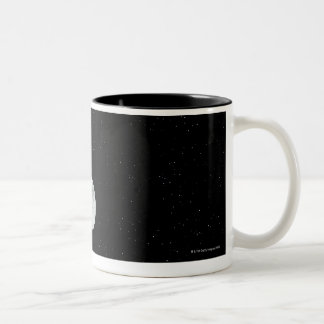 Moon rise over Earth Two-Tone Coffee Mug