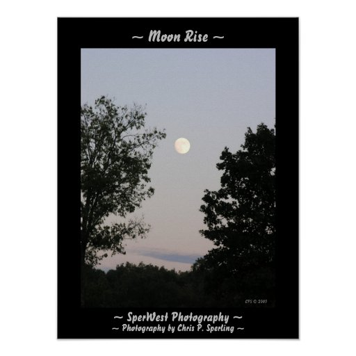 Moon Rise Poster