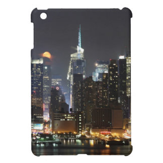 Moon rises over midtown New York. Cover For The iPad Mini