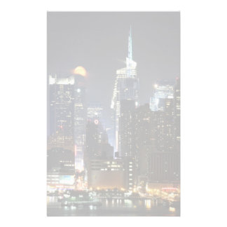 Moon rises over midtown New York. Stationery