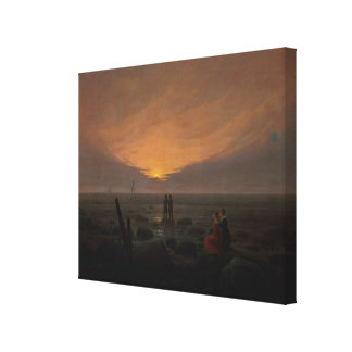 Moon Rising Over the Sea, 1821 Canvas Print