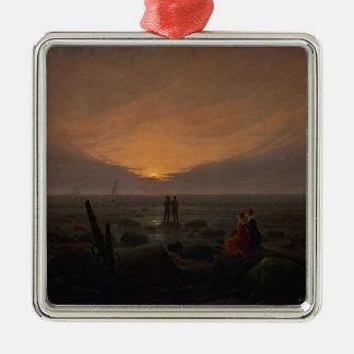 Moon Rising Over the Sea, 1821 Christmas Ornament