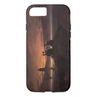 Moon Rising Over the Sea, 1822 (oil on canvas) iPhone 8/7 Case