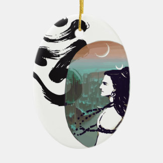 Moon Rising  Shiva Christmas Ornament