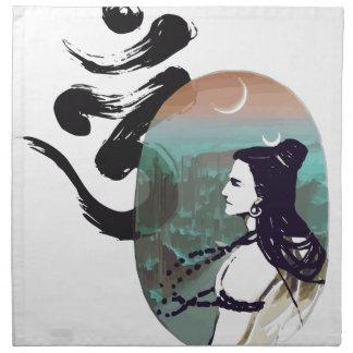 Moon Rising  Shiva Napkin