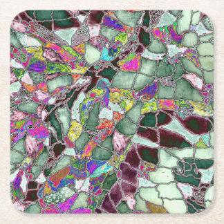 Moon Rocks Foil Square Paper Coaster