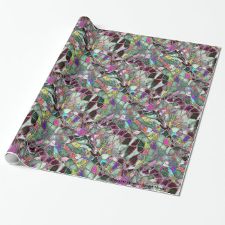 Moon Rocks Foil Wrapping Paper