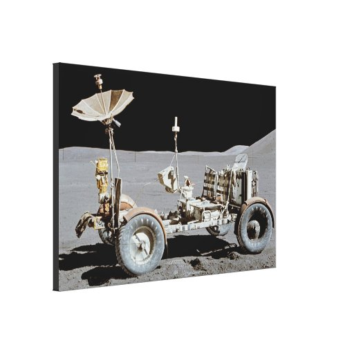 Moon Rover Stretched Canvas Print
