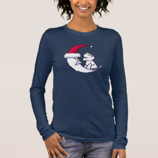 Moon Santa Westie Long Sleeve T-Shirt