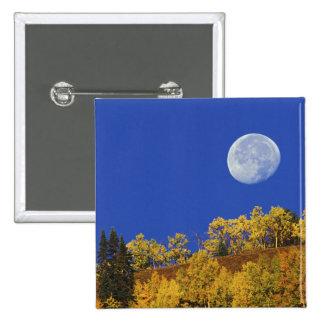 Moon setting at sunrise, Gunnison National 15 Cm Square Badge