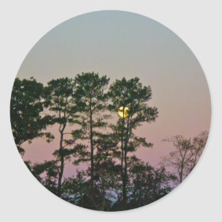 Moon Setting @ Dawn Items Classic Round Sticker