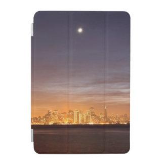 Moon setting over San Francisco on hazy December iPad Mini Cover