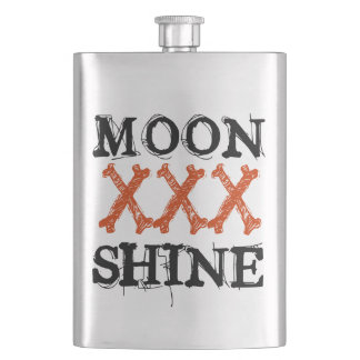 Moon Shine Hip Flasks