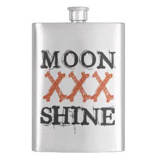 Moon Shine Hip Flasks
