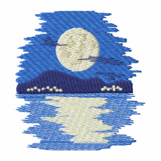 Moon Shining On Water Embroidered Jacket