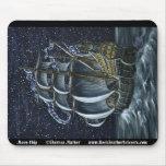 Moon Ship Galleon Mousepad