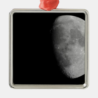 Moon Silver-Colored Square Decoration