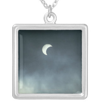 Moon Silver Plated Necklace