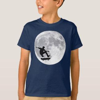 Moon skateboarding tshirt