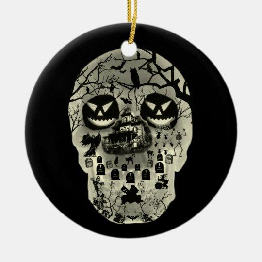 Moon Skull Ornament