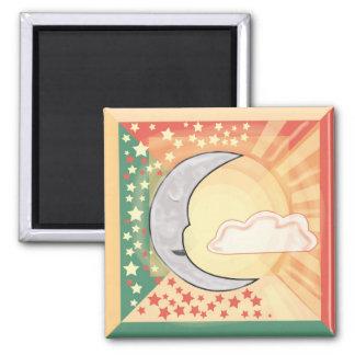 Moon Sleeps, Sun Shines Magnet