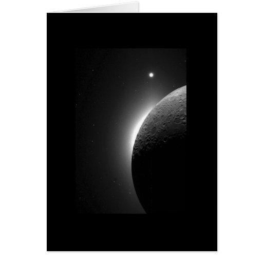 Moon, Solar Corona & Venus Space Card