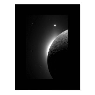 Moon, Solar Corona & Venus Space Postcard