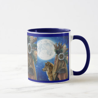 Moon Song Mug Viking Mug Wolf Mug Native American