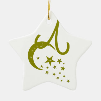 Moon& Star and Zodiac Sign Ceramic Star Decoration