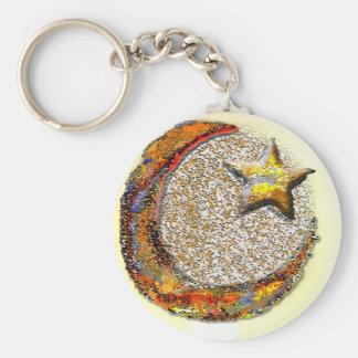 Moon-Star -Islam Basic Round Button Key Ring