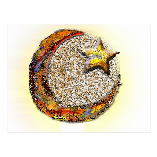 Moon-Star -Islam Post Card