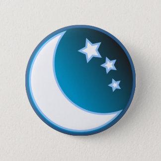 Moon & Stars 6 Cm Round Badge