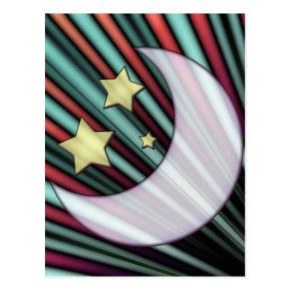 Moon, Stars, & Rising Sun Postcard