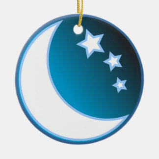 Moon & Stars Christmas Ornament