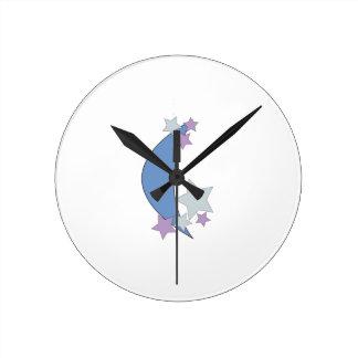 Moon Stars Clock