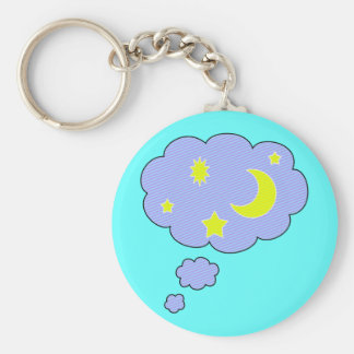 moon stars key ring