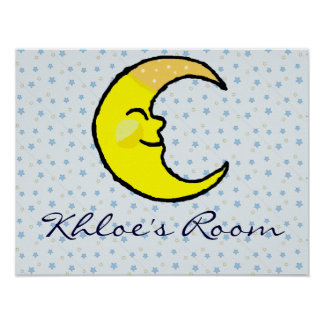 Moon & Stars Poster