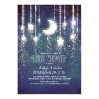 Moon Stars & String Lights Bridal Shower Card