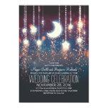 Moon Stars & String Lights Wedding Invitations 13 Cm X 18 Cm Invitation Card
