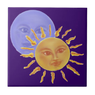 Moon & Sun Small Square Tile
