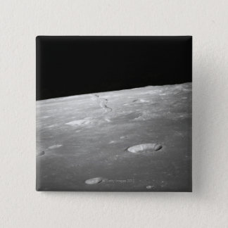 Moon Surface and Horizon 2 15 Cm Square Badge