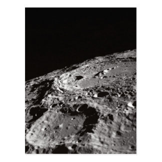 Moon Surface and Horizon Postcard